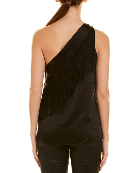 Rachel Zoe Fringe Silk Top~1411051248