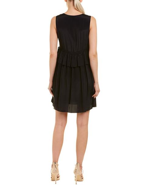 See by Chloe Drawstring Peplum Silk-Blend Mini Dress~1411187492