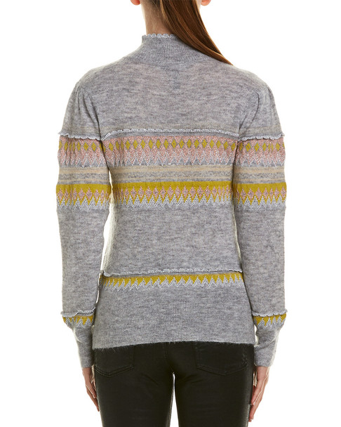 BCBGMAXAZRIA Mixed Intarsia Wool & Mohair-Blend Sweater~1411656081