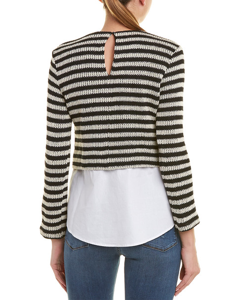 English Factory Striped Poplin Top~1411810440