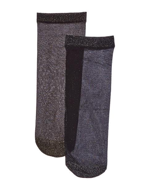 Emilio Cavallini 2pk Sheer Metallic Socks~1412007831