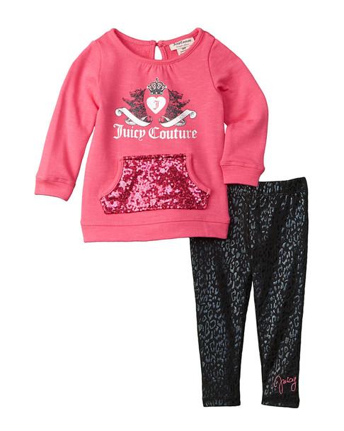 Juicy Couture 2pc Top & Legging Set~1511825690