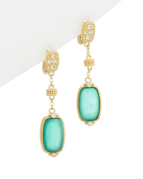 Judith Ripka 14K Over Silver 9.37 ct. tw. Gemstone Drop Earrings~6030959262