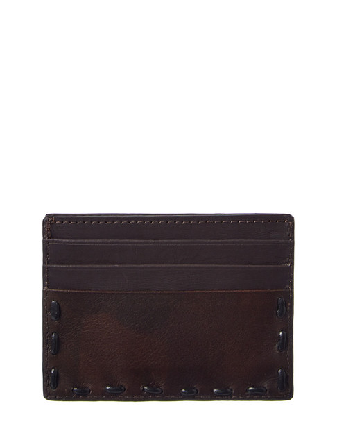 John Varvatos Star U.S.A. Marble Stained Leather Card Holder~1162888157