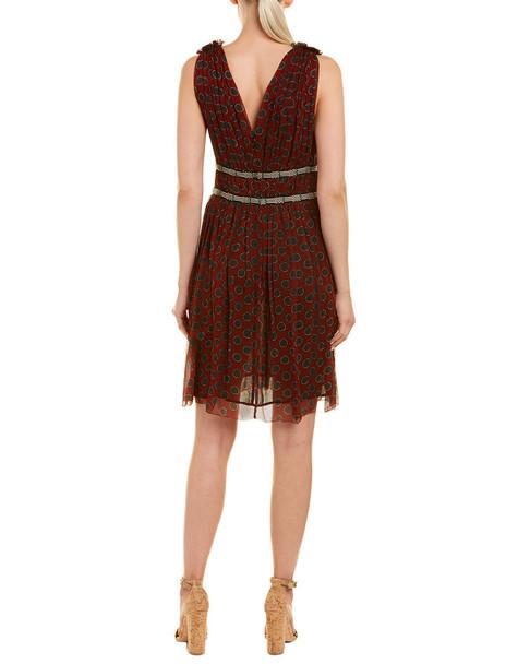Isabel Marant Plunging Silk Mini Dress~1411497358