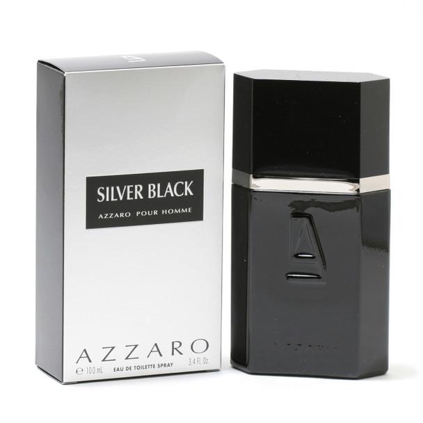 Azzaro Silver Black Men- Edt Spray