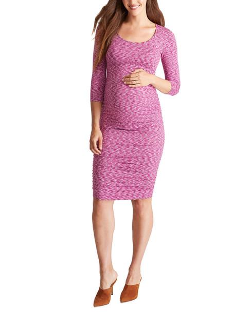 Ingrid & Isabel Maternity 3/4 Sleeve Shirred Dress~1050009058