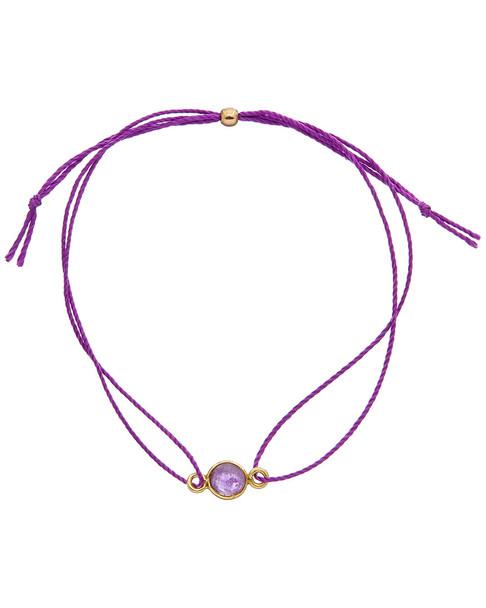 Dogeared Love 14K Over Silver Amethyst Bracelet~6030870528