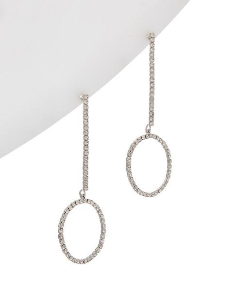 Kenneth Jay Lane Rhodium Plated Drop Earrings~6030941932