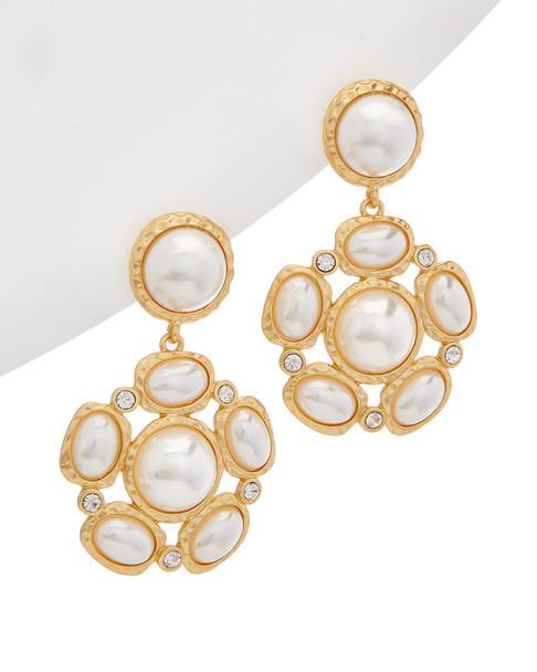 Kenneth Jay Lane Plated Drop Earrings~6030941935