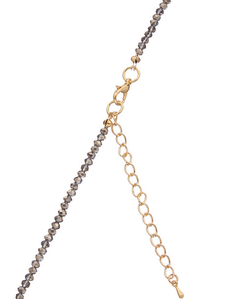 Kenneth Jay Lane Rhodium Plated Resin Necklace~6030941938