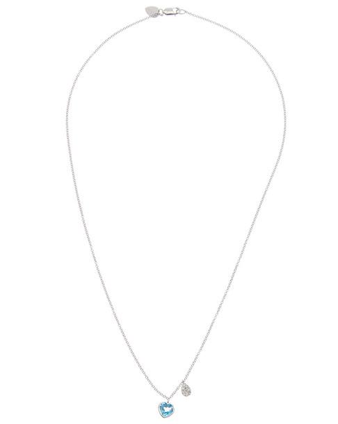 Meira T 14K 1.04 ct. tw. Diamond & Blue Topaz Necklace~6030961309