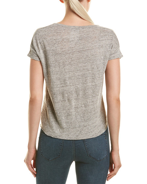 Chaser Tie-Front Linen Top~1411022878