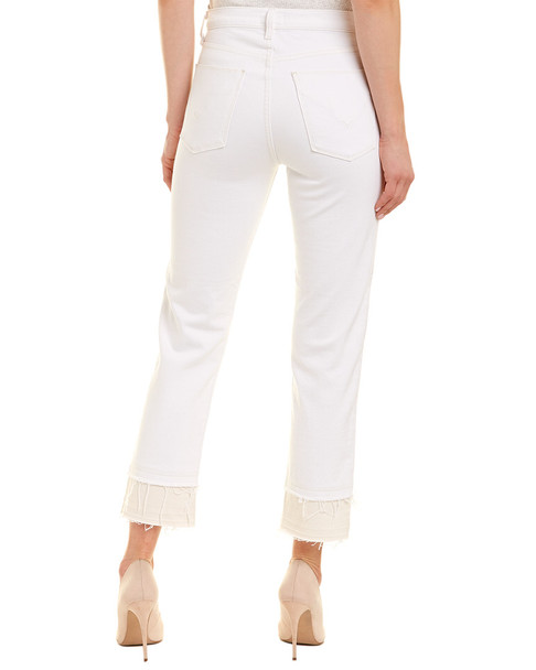 HUDSON Jeans Zooey Stepped White High-Rise Straight Crop~1411034678