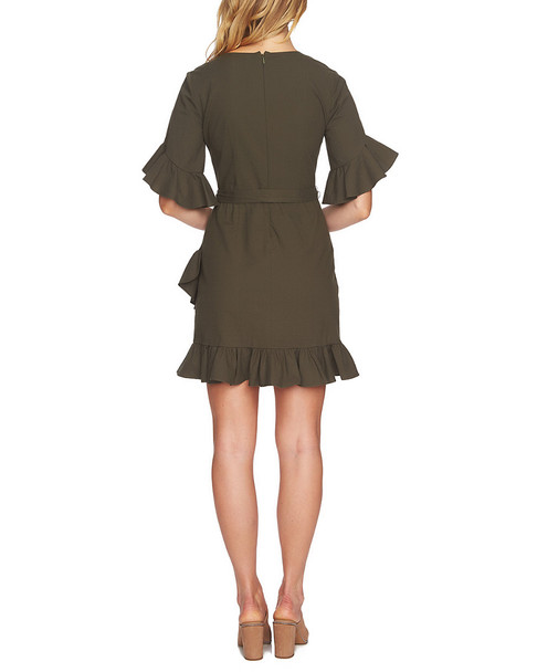 1.STATE ASYMMETRICAL RUFFLED WOVEN DRESS~1411068567