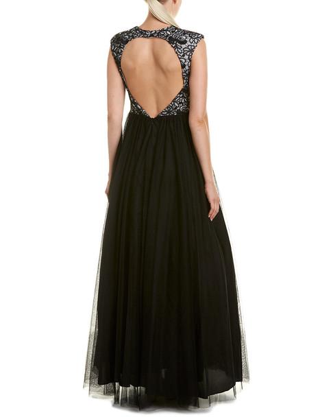 Aidan Mattox Silk-Trim Gown~1452033829