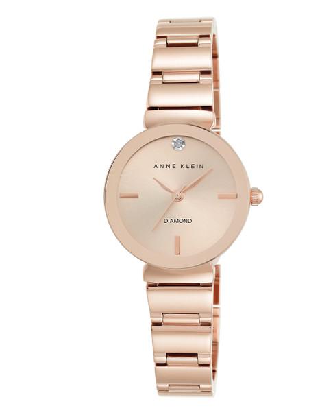 Anne Klein Round Rose Gold-Tone Bracelet Watch~AK / 2434RGRG