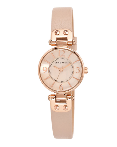 Anne Klein Rose Gold-Tone Watch with Light Pink Leather Band~10 / 9442RGLP