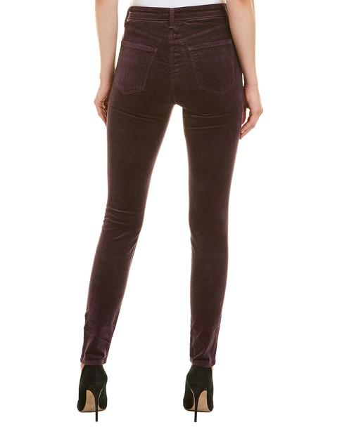 J Brand Maria Aubergine High-Rise Velvet Skinny Leg~1411066134