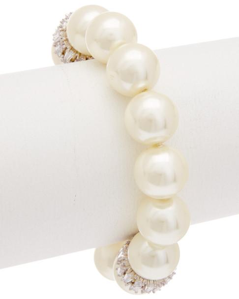 Carolee Pearl Premier CZ Stretch Bracelet~60300217450000