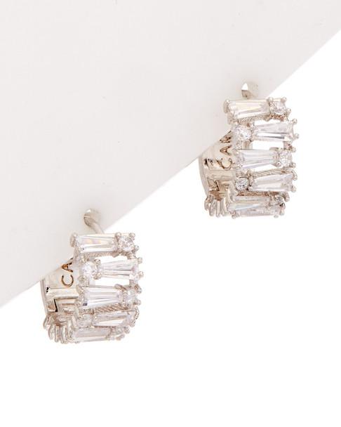 Carolee Pearl Premier CZ Huggie Earrings~60300217640000