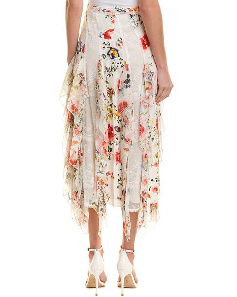 alice + olivia Yula Silk Midi Skirt~1411223608