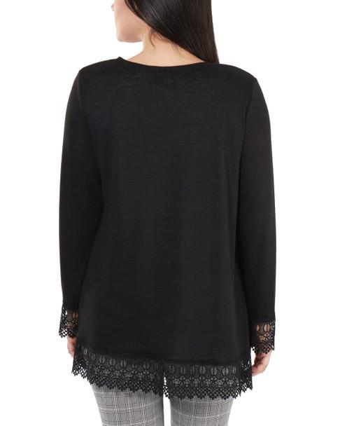 Open Front Lace Trim Cardigan~Black*MHAR0251