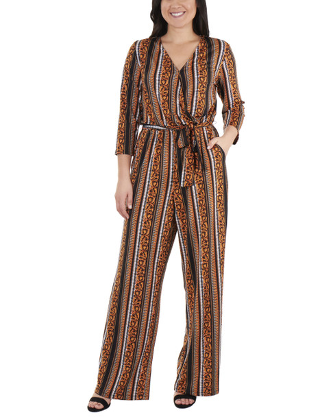 3/4 Sleeve Sash Belt Jumpsuit~Golden Luxetch*MITU6919