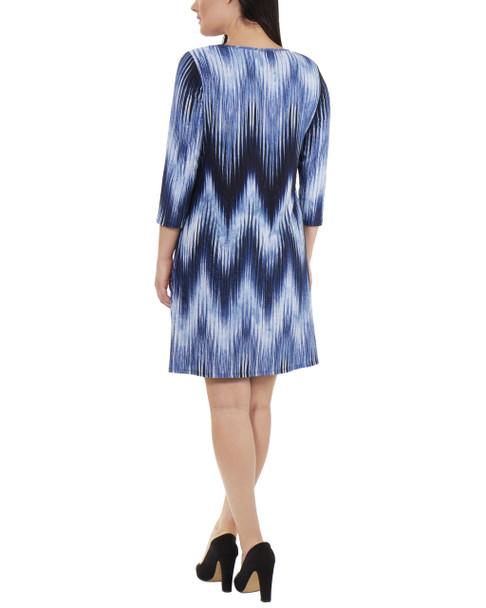 Striped Keyhole Shift Dress~Navy Ligia*MNKD0444