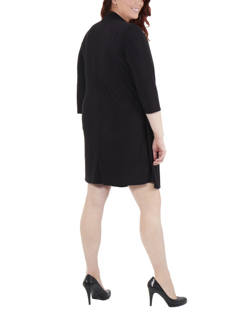 Plus Size 3/4 Sleeve Cozy and Dress Insert~Black Dusoleiduo*WITF1780