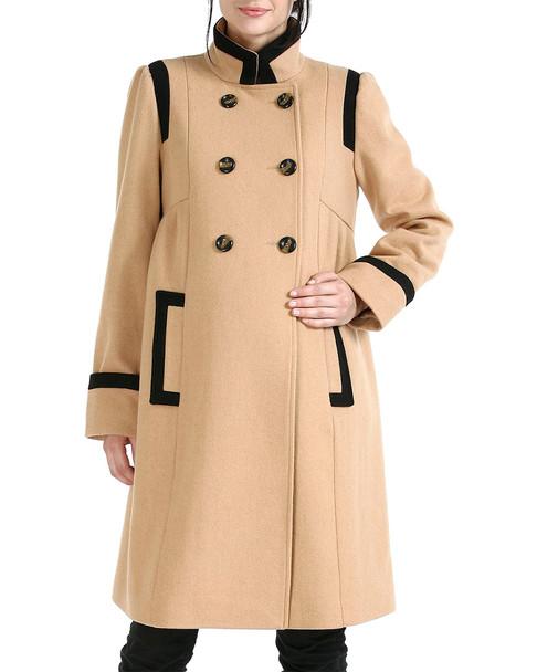 Kimi + Kai Maternity Momo Madison Double-Breasted Wool-Blend Coat~1411979468