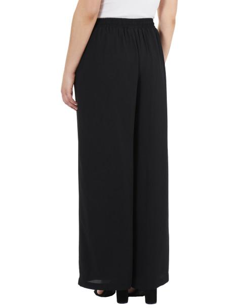 Elastic Waist Tassel Tie Palazzo Pants~Black*MDOP0139