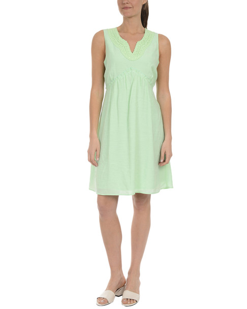 Petite Sleeveless Keyhole A Line Ruffle Dress~Dark Mint*PRJD0206