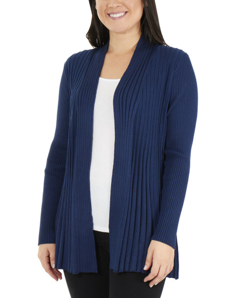 Long Sleeve Open Front Textured Cardigan~Egyptian Blue*MSVR1156