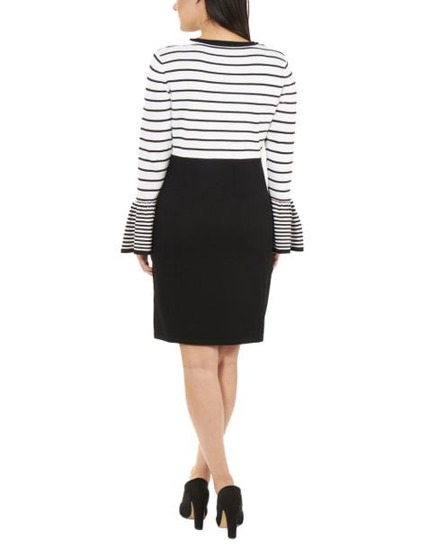 Petite Long Sleeve Stripe Dress~Helga*PSOD0241