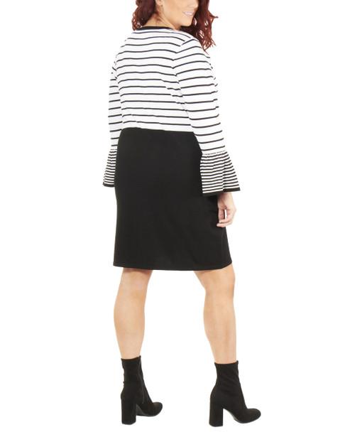 Plus Size Long Sleeve Stripe Dress~Helga*WSOD0241