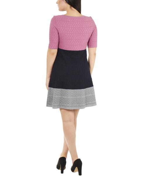 Elbow Sleeve Colorblock Dress~Isadora*MSOD0240