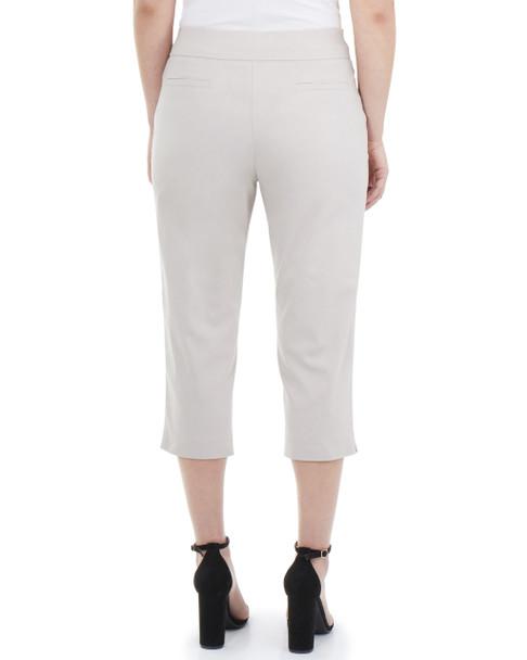 Partial Stack Waist Capri Pants~Khaki*MRNL0256