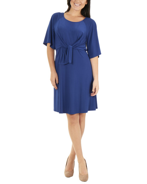 Petite Raglan Elbow Sleeve Dress~Mauve Essentia*PITD3675