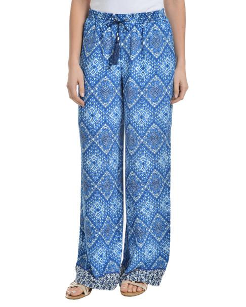 Petite Elastic Waist Tassel Tie Palazzo Pants~Maya Diamond*PCRP0075