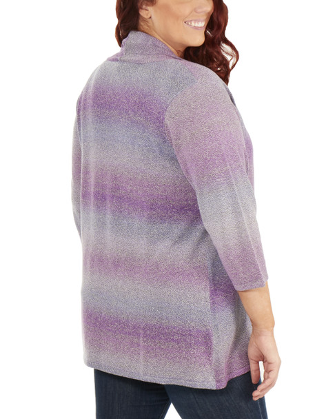 Plus Size 3/4 Sleeve Ombre Open Front Cardigan~Tanya*WSVR1190