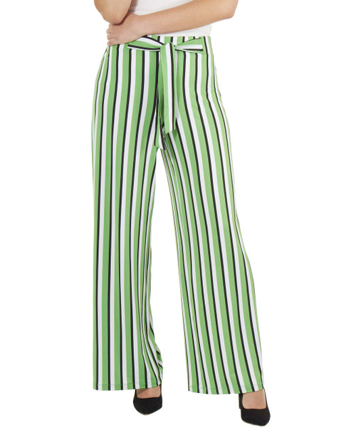 Striped Tie Front Pants~Yellow Skystripe*MITP0706