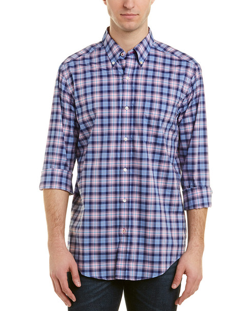 J.McLaughlin Carnegie Hairline Plaid Woven Shirt~1010107367