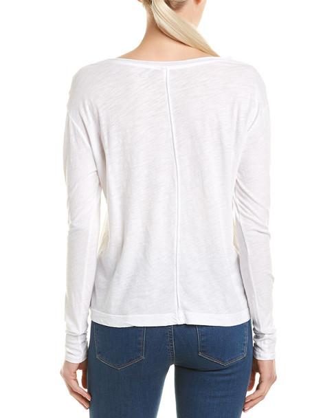 Three Dots Raw Edge T-Shirt~1411036177