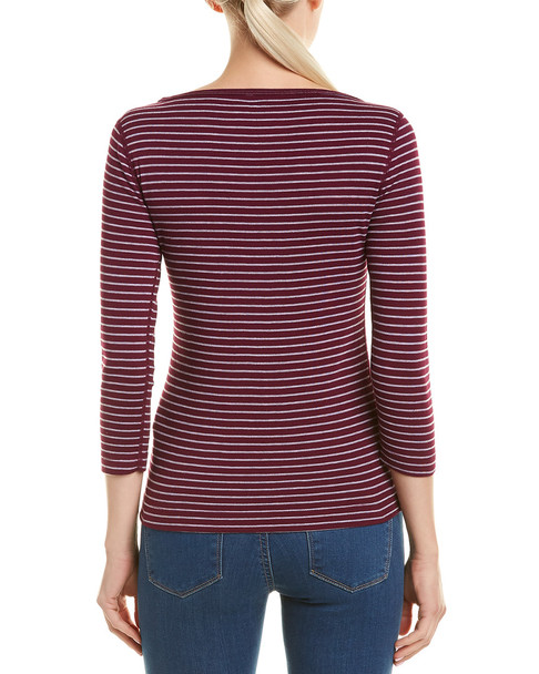 Three Dots Tahoe Stripe British T-Shirt~1411036186