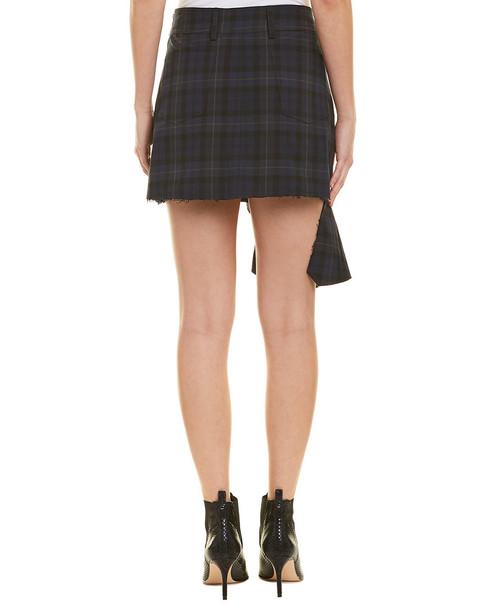 Divine Heritage Moto Plaid Ruffle Skirt~1411040454