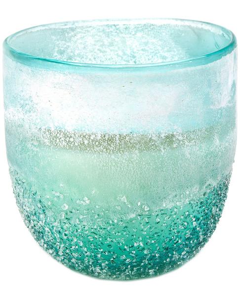 D&L Company Modern Alchemy By D.L. Pebble Glass 9oz Sandblast Aqua~3050134255