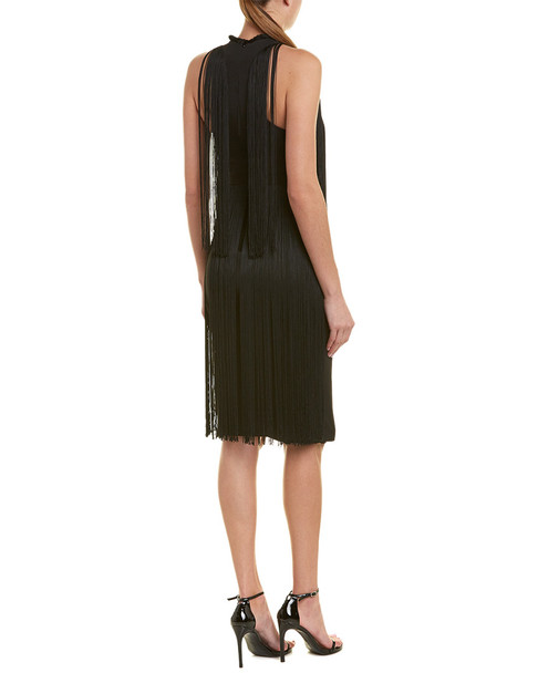 Stella McCartney Fringe Silk-Lined Midi Dress~1411087420