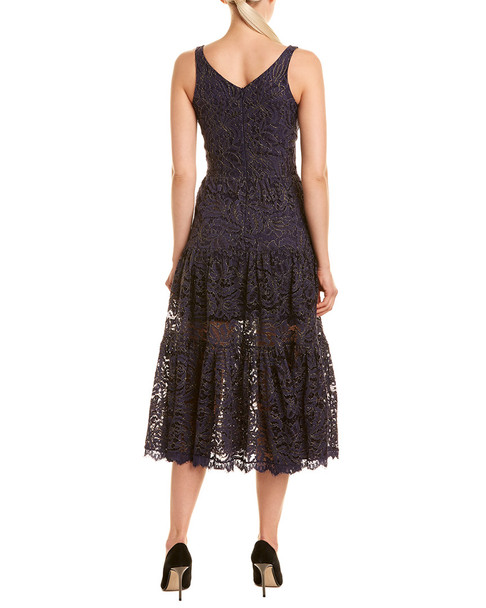 Dress the Population Lace Midi Dress~1452064954