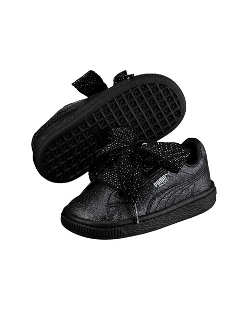 PUMA Girls' Basket Heart Holiday Glamour PS Sneaker~1511141987